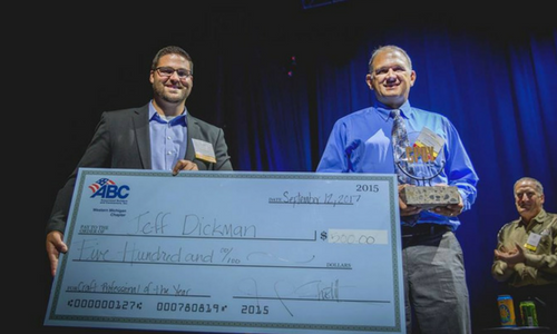Jeff Dickman Wins ABC Western Michigan Chapter's C.P.O.Y. Award